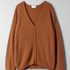 wilfred free relaxed v-neck sweater